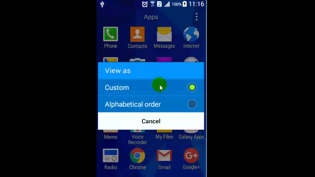 How to sort the apps in alphabetical order in Android phone