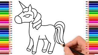 Como dibujar un caballo | Dibujo de caballo | How to draw a horse for kids