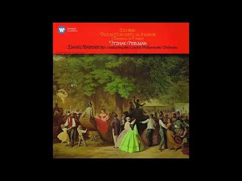 Dvorák Violin Concerto Itzhak Perlman LPO Daniel Barenboim (Remasterd 2015)