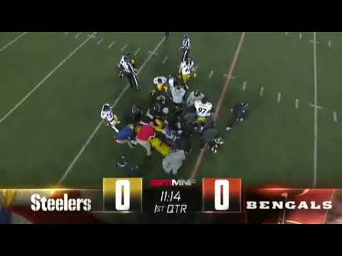 RYAN SHAZIER INJURY MONDAY NIGHT FOOTBALL.  BENGALS VS STEELERS