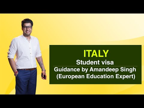 Italy Student visa Guidance by Amandeep Singh (European Education Expert)