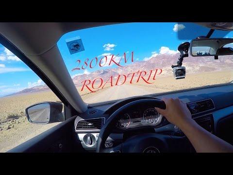 roadtrip usa cote ouest (west)2800KM gopro (notre route en vacance) (time lapse)