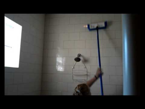 Cleaning Big Bathrooms Vacation Home with Ecolab Cleaning Caddy