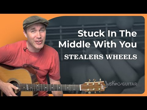 Stuck In The Middle With You - Stealers Wheels (Easy Song Guitar Lesson BS-996) How to play