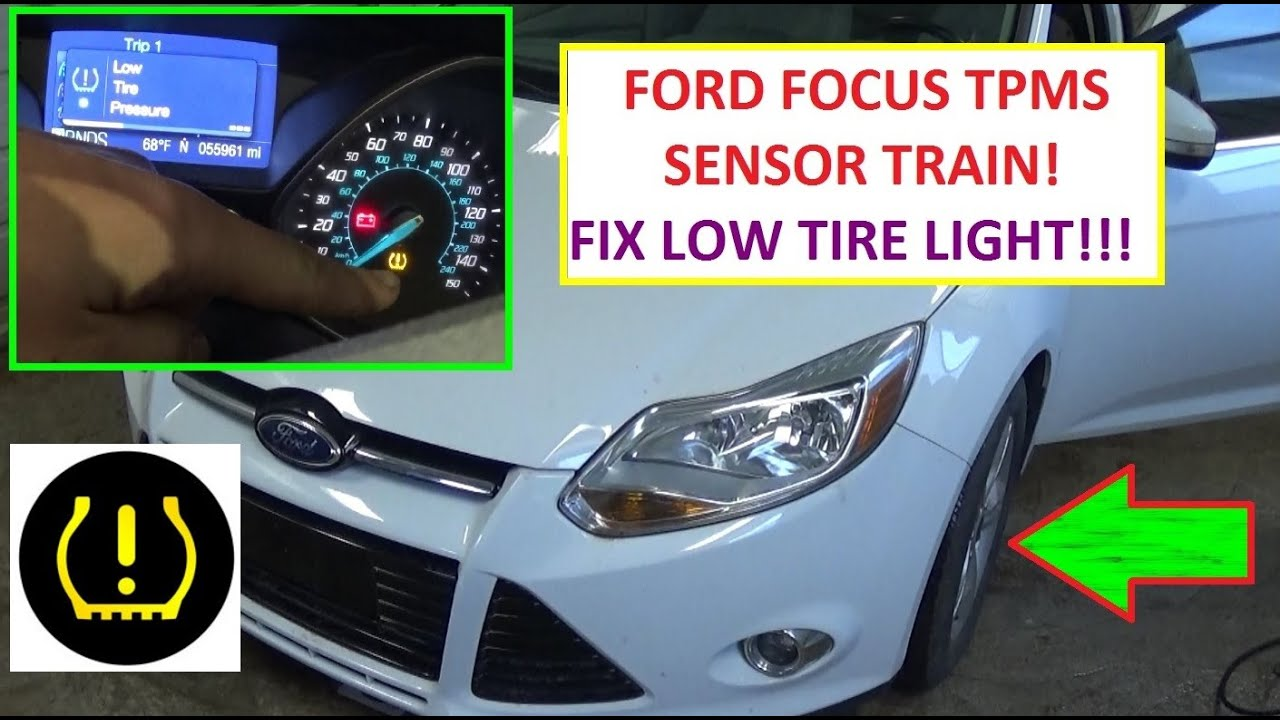 How To Train Tpms Tire Pressure Sensors On Ford Focus Mk Low Tire Pressure Light Fix Reset