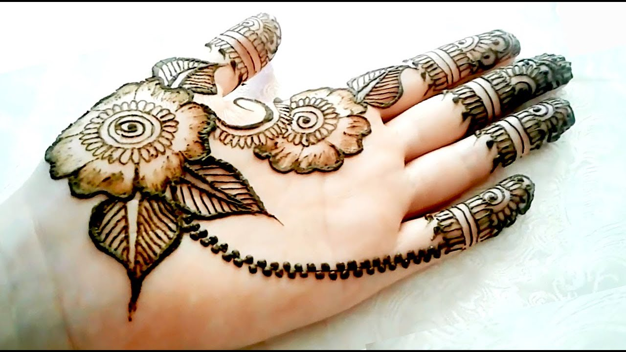 Simple Latest Stylish Arabic Henna Mehndi Design For Hand The Easiest To Design Arabic