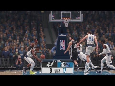 NBA Live 18 Gameplay - Dallas Mavericks vs San Antonio Spurs