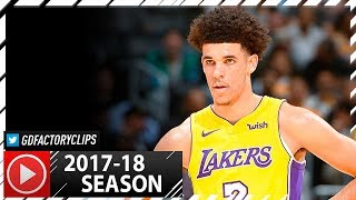 lonzo ball full ps highlights vs nuggets 2017 10 02 8 pts 4 ast left the game early