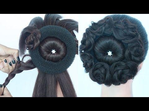 new beautiful juda hairstyle for party, weddings, lehenga, saree, festivals || bridal hairstyle thumbnail