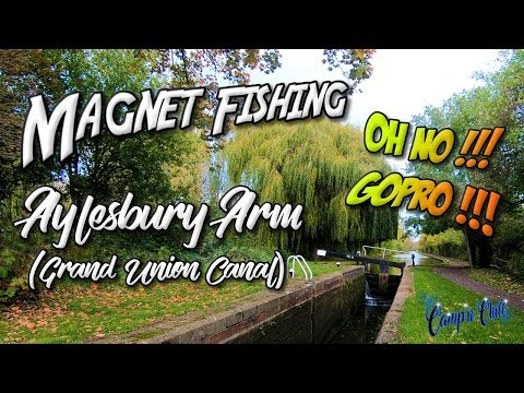 Magnet Fishing Aylesbury Arm Grand Union Canal ⚓🎣🇬🇧Oh No Gopro - Camp'n Chill