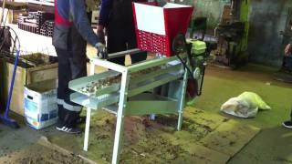 испытания комбайна для переработки кедровой шишки