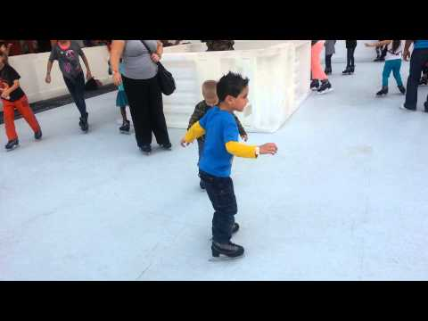 Ice skating in West Palm beach Dec 2012