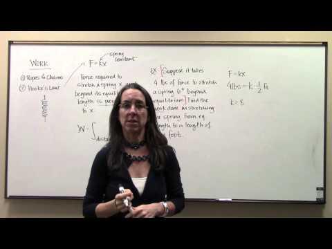 Physics applications Work