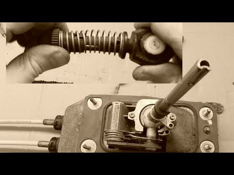 Removing and installing gear selector cable - VW AUDI SEAT SKODA