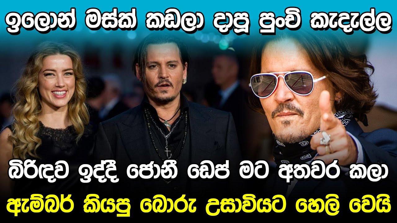 ඇම්බර් කියපු බොරු හෙලි වෙයි | Johnny Depp & Amber Heard |