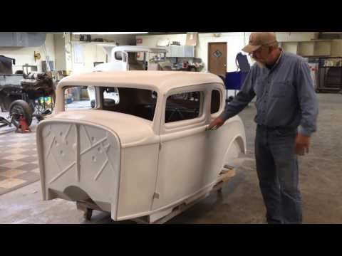 1932 Ford 5 Window Fiberglass Coupe Body