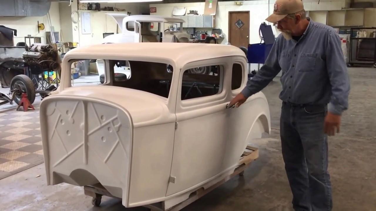 1932 Ford 5 Window Fiberglass Coupe Body