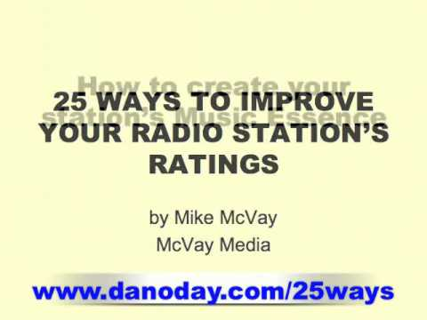 RADIO PROGRAMMING - MAXIMIZING YOUR STATION'S RATINGS