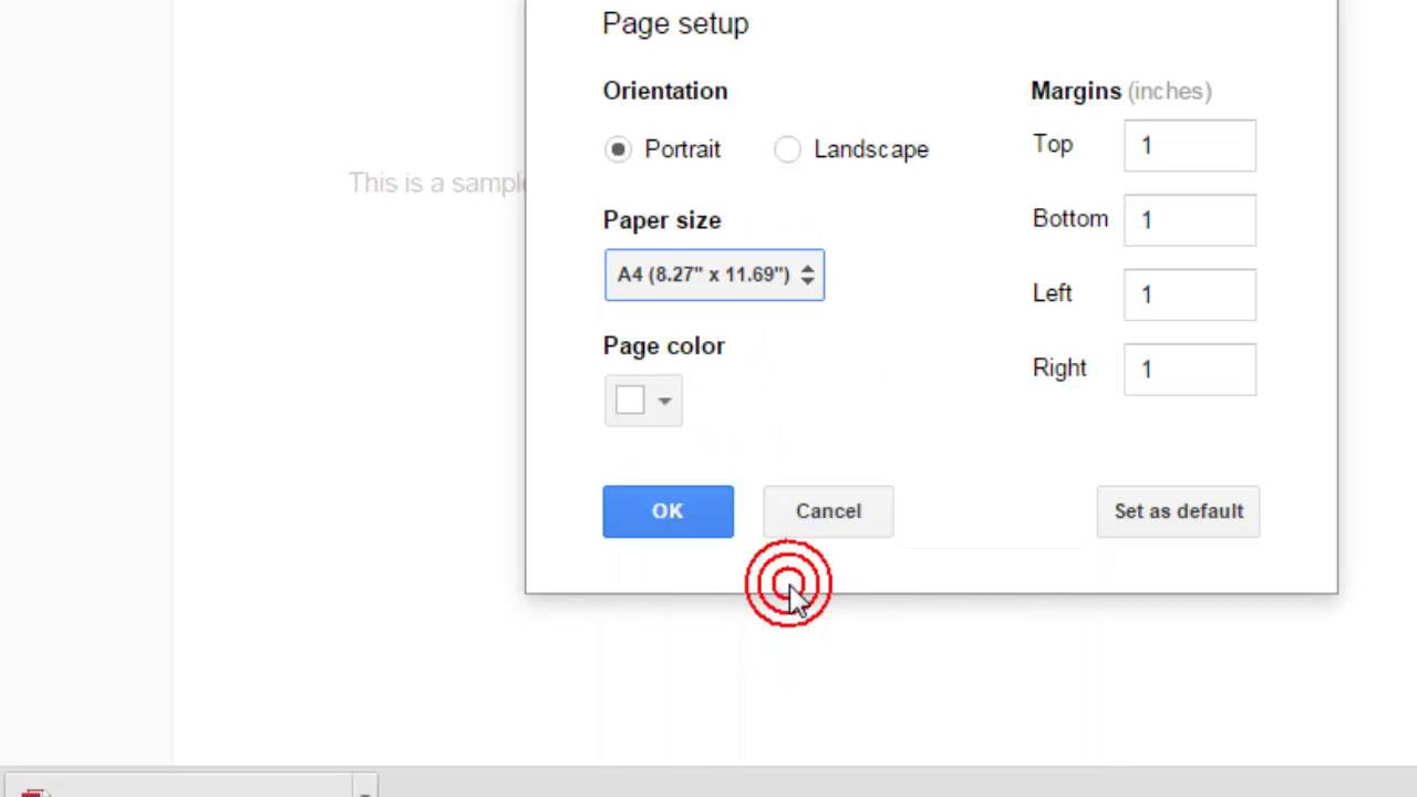 How To Set A Document Paper Size In Google Docs