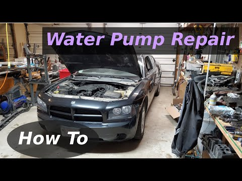How To Replace Water Pump 3.5L V6 Dodge Charger SXT Chrysler Mechanic Fix 4K