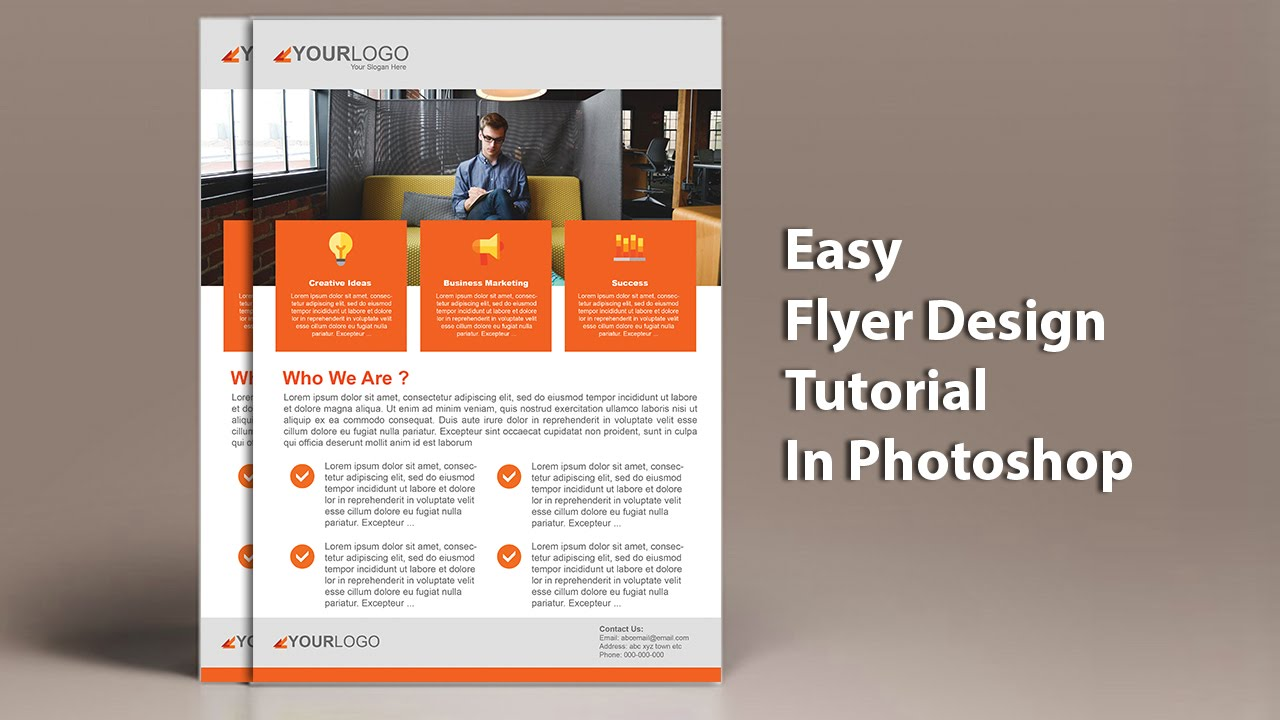 Lovely Learn To Design A Professional Business Flyer Design In Adobe Photoshop