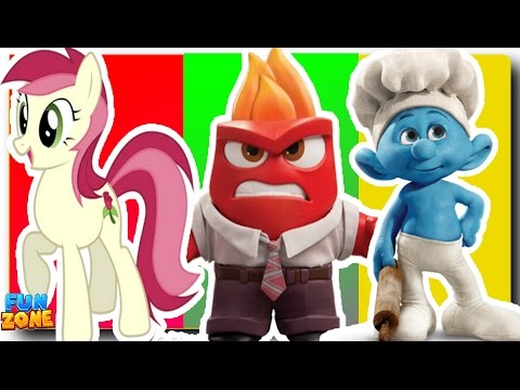 Thumbnail: Wrong Heads Learning Colors My Little Pony MLP Inside Out Anger Finger Family Nursery Rhymes