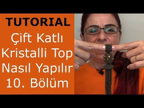 Çift Katlı Kristalli Top Nasıl Yapılır? Bölüm 10/10 (How To Make Double Layered Crystal Beaded Ball)