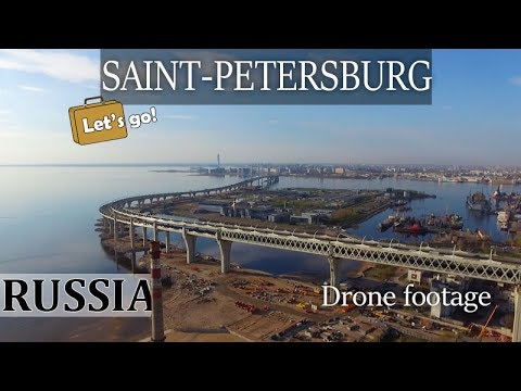 Kanonersky Island, Saint-Petersburg, Russia. Drone footage, The Gulf of Finland