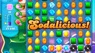 Candy Crush Saga SODA Level 1497 CE