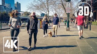 Melbourne City Walk | COVID19 Stage 4 Restrictions | 4K | 3D Binaural Audio