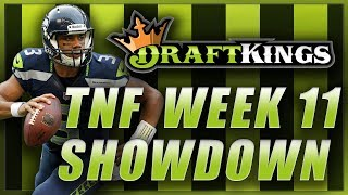 DRAFTKINGS NFL WEEK 11 THURSDAY SHOWDOWN: Packers Seahawks TNF