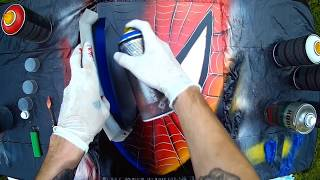 spider-Man - Spray Paint Art / КАРТИНА БАЛЛОНЧИКАМИ