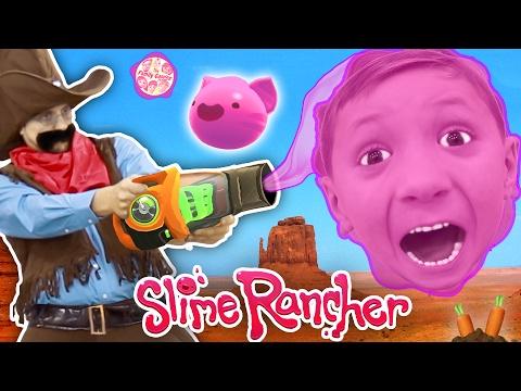 Gooey, Squishie Slimes Monsters vs. FGTEEV Sheriff (Slime Rancher Farm Gameplay / Skit)