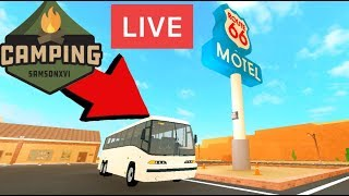 🔴 Roblox CAMPING GAMES LIVE (Roblox Hotel, Route 66, Egypt Trip, Birthday Party & MORE) EN VIVO🔴