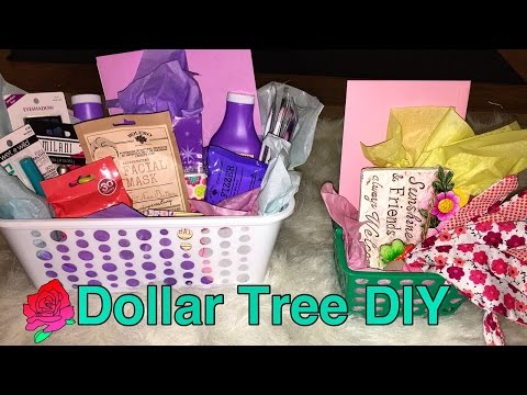 Easy Easter & Spring Gift Basket DIY with only Dollar Tree items!!!!