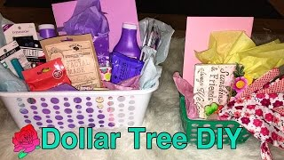 Great gift basket DIY with only Dollar Tree items!!!!