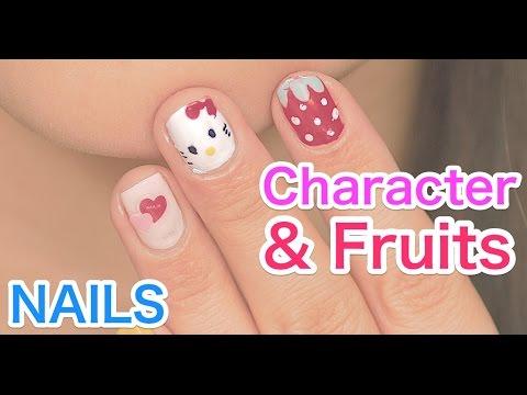 Kawaii Character Fruits Nail Art Tutorial By Fashion Model