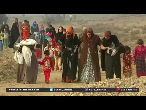 Operation to retake Mosul escalates as refugees flee city