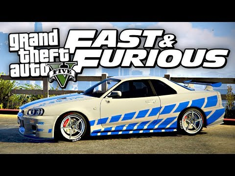 FAST & FURIOUS SKYLINE R34! (GTA 5)