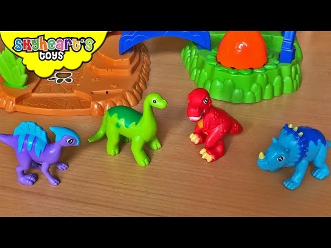 Super Duper Dinosaur Adventure Playset - Kids playing with cute dinosaur for kids toys