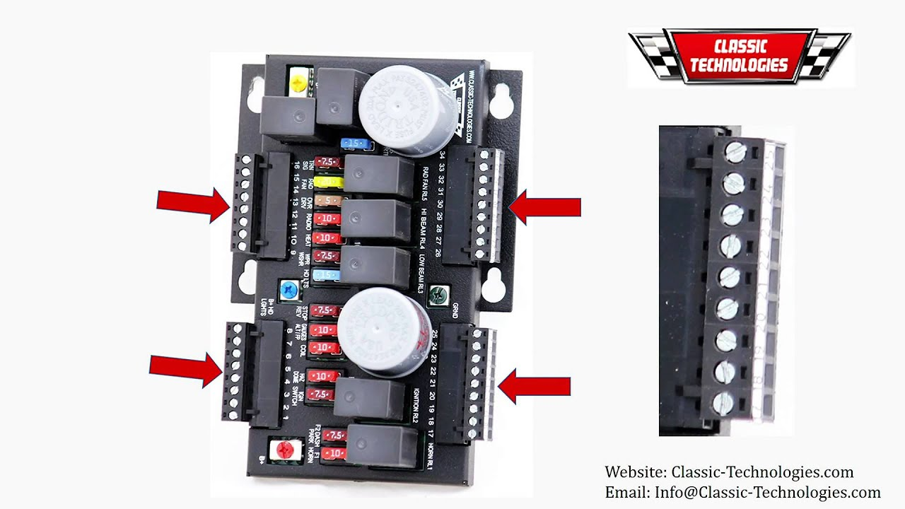 hight resolution of classic technologies aftermarket fusebox rewiring classic car youtube motorcycle aftermarket fuse box aftermarket fuse box