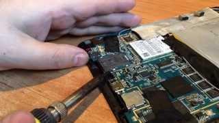Ремонт USB разьема питания планшета DIGMA