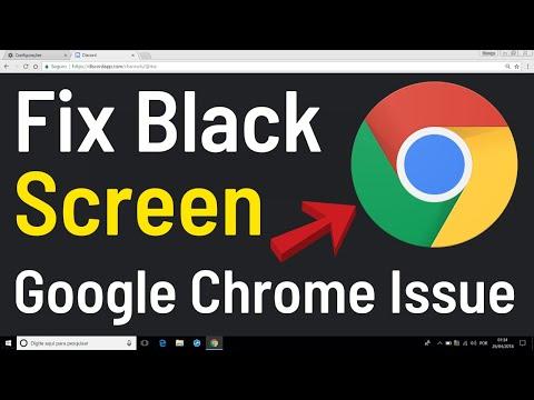 How To Fix Google Chrome Black Screen Issue | Windows 10 Tutorial