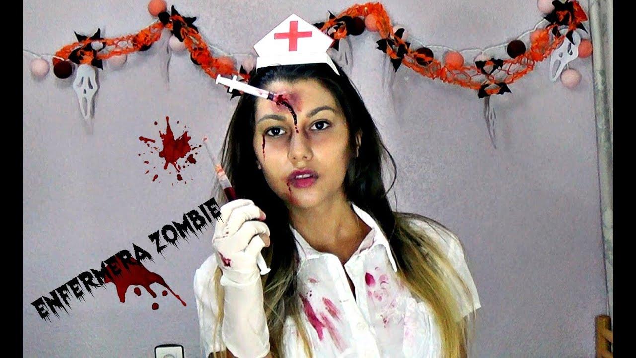 maquillaje enfermera zombie