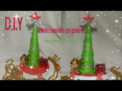 Rbol de navidad de goma eva o foamy diy decoraci n youtube - Decoracion navidad goma eva ...