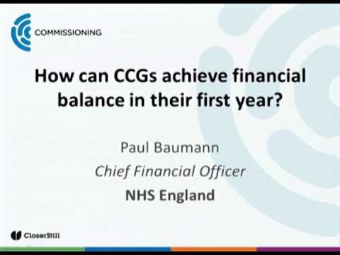 How Can CCGs Achieve Financial Balance In Their First Year?
