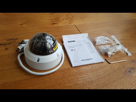 Unboxing and setup Unitech 4MP IP Poe Dome Camera, Network Security Camera Outdoor with Micro SD