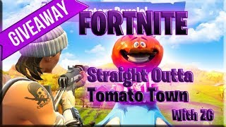 Fortnite Straight Outta Tomato Town Giveaway 25 dollar Gift Card MUST BE ACTIVE