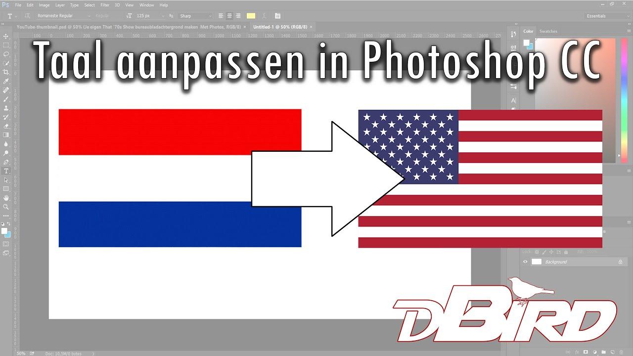 Taal Aanpassen In Photoshop Cc Van Nederlands Naar Engels En Andersom