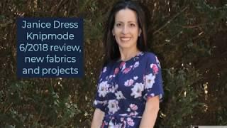 Knipmode 6/2018 Janice dress, New Fabrics,  Next projects and action video